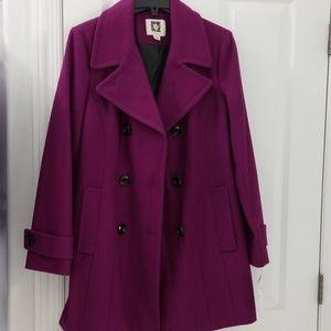 Anne Klein Wool Swing Coat sz Large NWT NEW